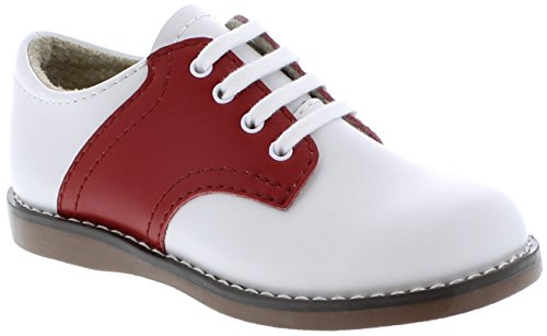FootMates Cheer Laceup Saddle White/Apple Red - 8412/9 Toddler M/W
