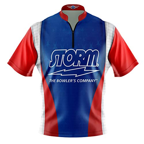 Logo Infusion Bowling Dye-Sublimated Jersey (Sash Collar) - Storm Style 0515 - Sizes S-3XL (XL)