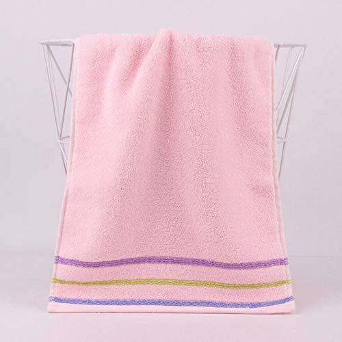 XINDUO Toallas Juego de toallitas Premium,Toalla de algodón a Rayas Gruesas 2pcs-Pink_75 * 35,Toallas Muy absorbentes y Suaves