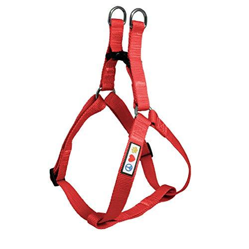Pawtitas Arnes de Entrenamiento Chaleco Pechera para Perros y Cachorros arnes de adiestramiento Ideal para Caminar Perros Cachorros arnes Pequeño Color Rojo