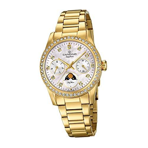 Candino Reloj de pulsera para mujer C4689/1, moderno, mecanismo de cuarzo, acero inoxidable, dorado, D2UC4689/1, un regalo para Navidad, cumpleaños, día de San Valentín para la mujer