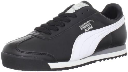 PUMA Men s Roma Basic Fashion Sneaker Black White Silver 9 D M US product image