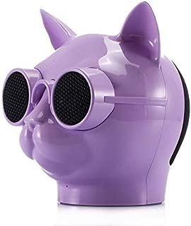 love-type Fashion Cool Cat Head Portable Speaker Wireless Bluetooth Stereo Speaker HD Bass Speaker Purple