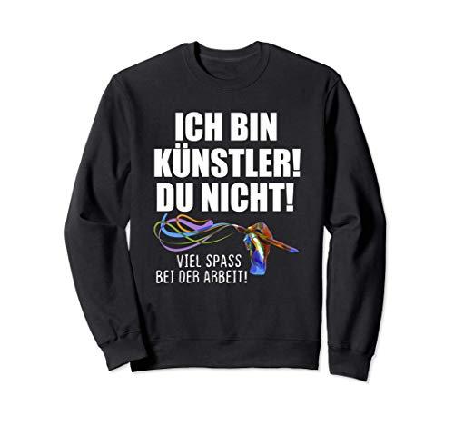 Künstler Pinsel Hand Farben Illustrator Digital Artist Bunt Sweatshirt