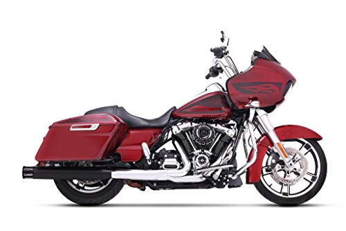 500-0107-Slot Rinehart Racing 4' Black with Black Slot End Caps Slip-On Mufflers for 2017-Newer Harley Touring Models