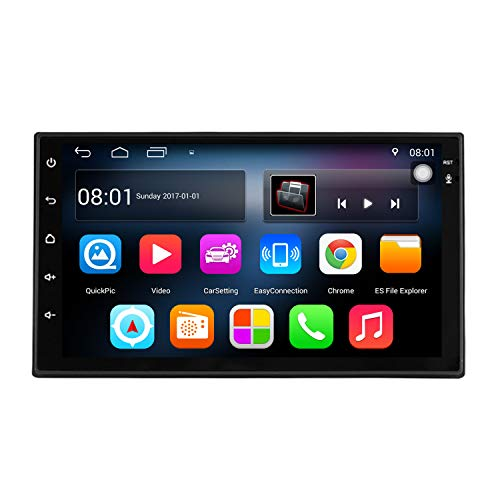 KKXXX S6 Android 7.1 2 DIN Car Stereo 1 GB de RAM 16 GB ROM Quad Core GPS de navegación Radio Auto AM FM RDS Mirror Link Control de Volante BT Manos Libres Call Music Video 1080P HD Touch Screen