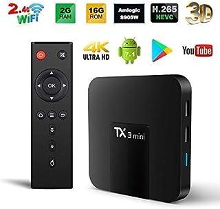 Android TV Box, Original TX3 Mini Android 8.1 TV Box 2GB RAM 16GB ROM Quad Core 64 Bits..