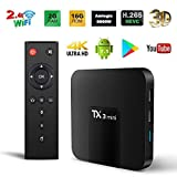 Android TV Box, TX3 Mini Android 7.1.2 TV Box Quad Core 64 Bits Support WiFi...