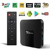 Android TV Box, Original TX3 Mini Android 8.1 TV Box 2GB RAM 16GB ROM Quad Core 64 Bits Support WiFi 100M LAN Smart TV Box 4K 3D HDR IPTV Media Player