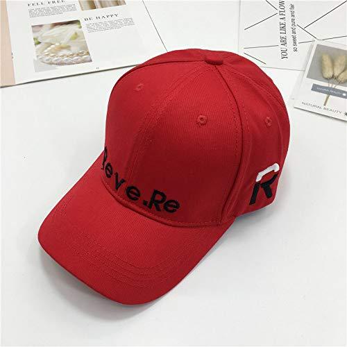 mlpnko Gorra Bordada Personalizada Viaje al Aire Libre Wild Wild Sun Hat Gorra de béisbol de Pareja Masculina y Femenina Rojo Ajustable