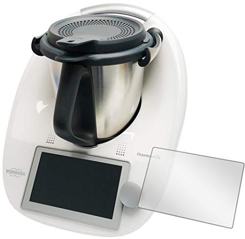 Ecultor I 4X Schutzfolie passend für Vorwerk Thermomix TM6 Displayschutz-Folie Klar