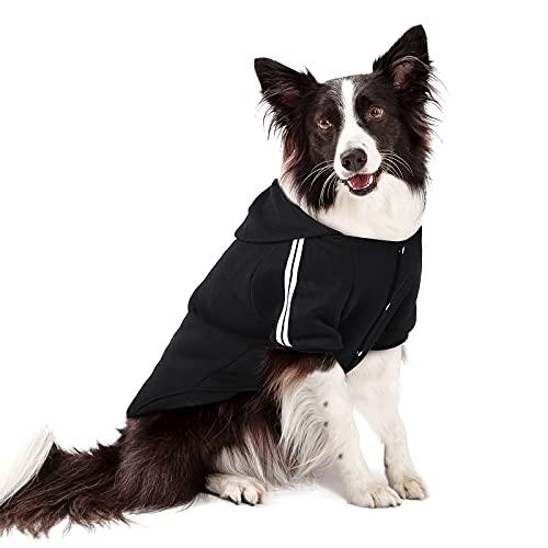 PETLESO - Jersey para perros grandes y cálido, fácil de poner y quitar, color negro, 5XL