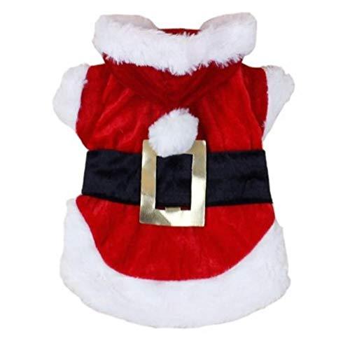 AMOYER 1pc vêtements pour Chiens de Noël pour Petits Chiens Père Noël pour Chien Costume d'hiver pour Animaux Manteaux pour Caniche Chihuahua Vêtements Vêtements Chat