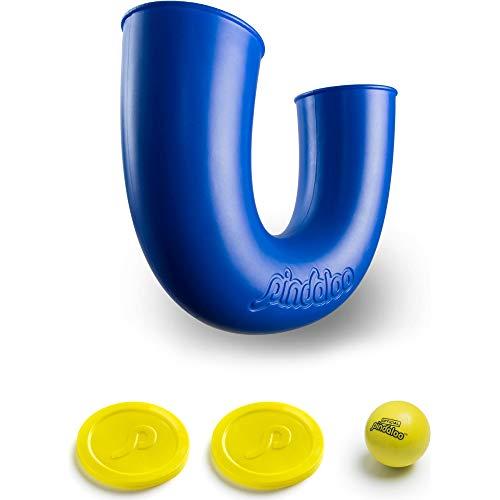 pindaloo Jonglier-Spielzeug mit 2 Bällen, neues Spiel für Kinder, Jugendliche und Erwachsene, Indoor- und Outdoor Spielzeug, Viel Spaß bei der Entwicklung der Motorik und beim Jonglieren lernen (Blau)