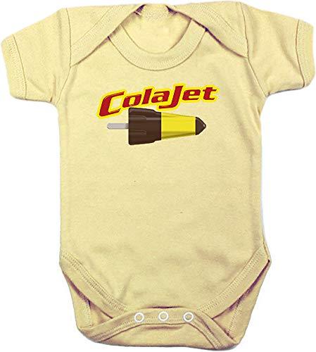 Camisetas EGB Body Bebé ColaJet ochenteras 80´s Retro (12 Meses, Amarillo)