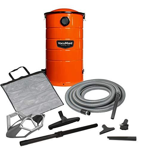 VacuMaid GV50O Wall Mounted Orange Garage and Car Vacuum with 50 ft. Hose and Tools.