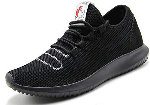 CAMVAVSR Men's Gym Shoes Fashion Slip on Lightweight Casual Workout Outdoor Walk Shoes for Men Black Size 11