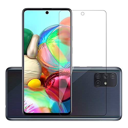 Timbu Tempered glass screen protector with full screen coverage (except edges) and easy installation kit compatible for Samsung Galaxy M51 / A71 / Samsung Galaxy Note10 Lite