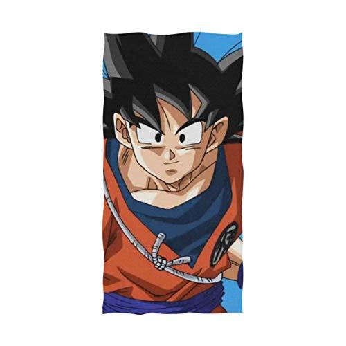 Emily-Shop Toalla de Playa Toalla de baño Dragon Ball Super Goku Toalla de Playa Toalla de baño Toalla de Playa Viaje Camping Yoga Gimnasio Toallas de Piscina 27.5 x 55 Pulgadas