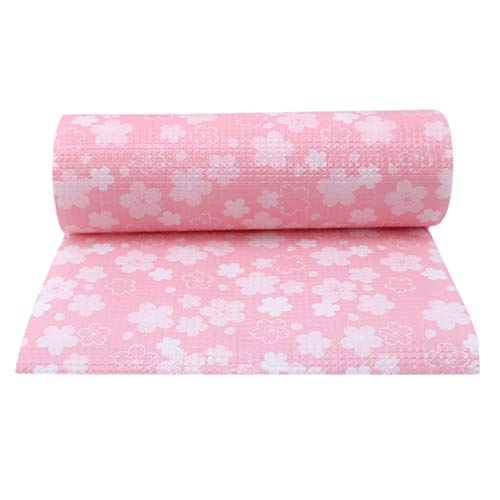 Toporchid Sakura Küchenschrank Ölbeständige Auflage Papierkassette Auflage Wasserdichte Matte (Pink 500 * 30Cm)