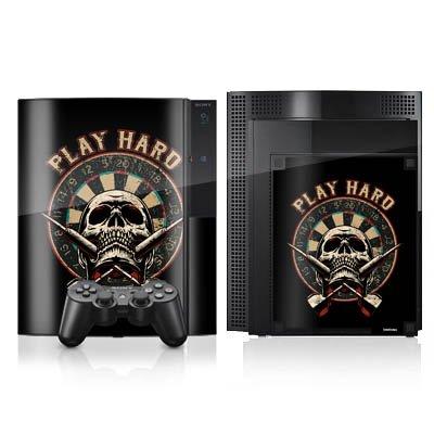 DeinDesign Skin kompatibel mit Sony Playstation 3 Folie Sticker Totenkopf Dart Schädel