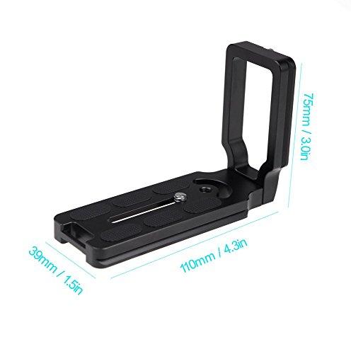 L Winkel Grip Vertikale Schießen Handgriff QR Schnellverschluss L Platte DSLR Kamera Halterung Halter für Nikon D750 D810 D7000 D7100 D7200 D610 D800 D800E D610 Kompatibel mit Arca Swiss