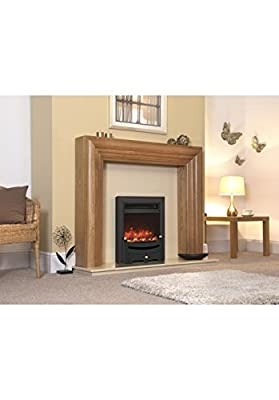 Designer Celsi Fire - Traditional Insert Modern Black 16''