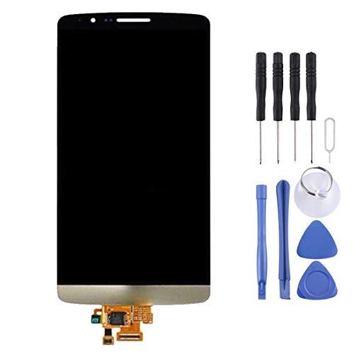 YIHUI Repare Repuestos Pantalla Nueva de y ensamblaje Completo del digitalizador for LG G3 / D850 / D851 / D855 (Oro) Partes de refacción (Color : Gold)