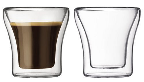 Bodum Assam Double-Wall Shot/Espresso Glasses, Set of 2 by Bodum
