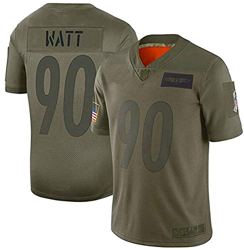 ZOKA Stitched #90 Football Fans Sports Team Salute to Service Game Jersey Men -Olive XL