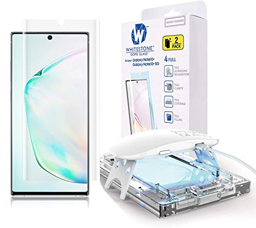 Galaxy Note 10 Plus Screen Protector, [Dome Glass] Full 3D Curved Edge Tempered Glass Shield [Liquid Dispersion Tech] Easy Install Kit for Samsung Galaxy Note 10+ and Note 10 + 5G - Two Pack