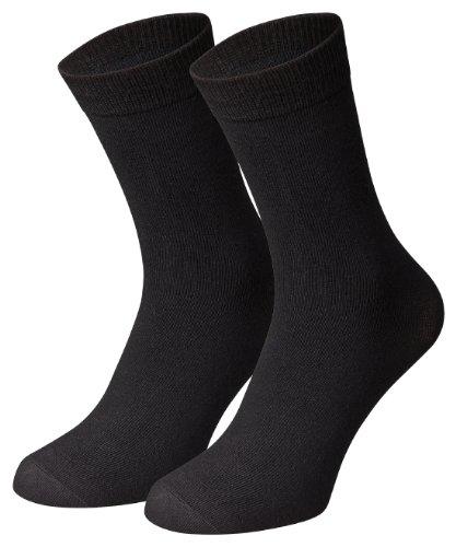 Herren Socken von Men's Fashion Lounge in schwarz, anthrazit, marine und mokka, 16er, 24er oder 32er Pack in Baumwoll-Qualität mit Elasthan, Schwarz/24 Paar, 39-42/24 Paar