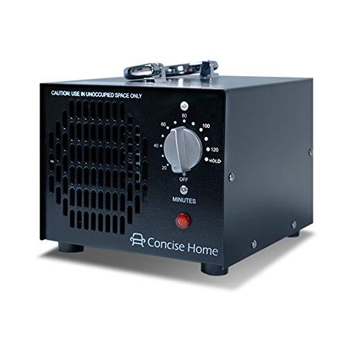 Concise Home 5000mg O3 Générateur d'Ozone Commercial Purificateur d'air Industriel Désodorisant Noir Stérilisateur