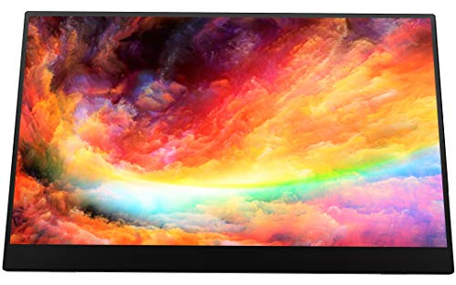 VIOTEK LinQ 16 Inch Touchscreen Portable Monitor – Full HD 1080P Thin IPS Panel w/Built in Speakers, (2X) USB Type C, (1x) HDMI Mini, (1x) 3.5mm Port - for Laptop, Tablet or Smartphone (P16CT)