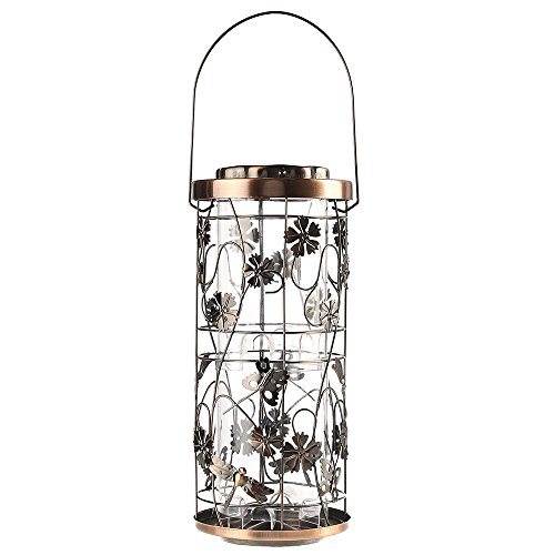 Perky-Pet Mangeoire à oiseaux Prairie Cuivrée avec crochet de suspension - Décoration jardin avec 8 stations d'alimentation - Capacité max. 1,8 kg de graines #570