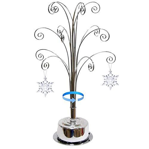HOHIYA Ornamento Display Tree Stand para Swarovski Christmas Ornamento 2020 Regalo Anual 42,5 cm Plata