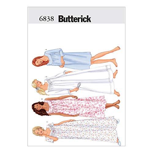 BUTTERICK 0388695 Misses' Petite Nightgown Pattern B6838 Size LRG, Each