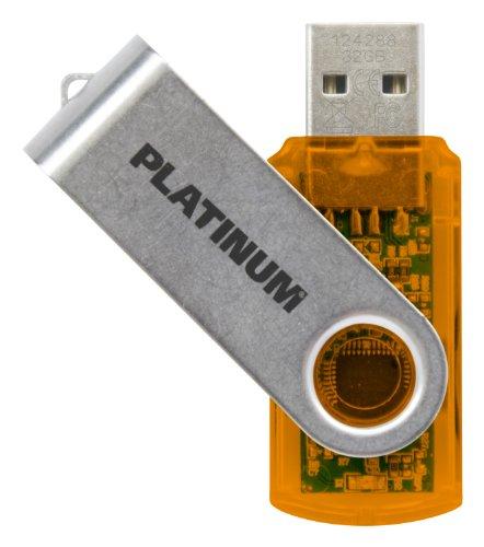 Platinum TWS USB-Stick 32 GB USB 2.0 USB-Flash-Laufwerk - Speicher-Stick in orange-silber inkl. Öse zur Befestigung am Schlüsselanhänger