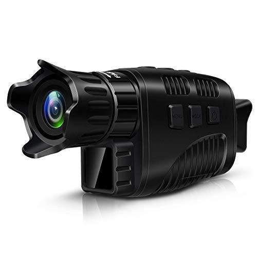 """Topnaca Monocular Digital Con Visión Nocturna por infrarrojos para observación de aves, viajes, caza con pantalla TFT LCD de 1,5"""", visión nocturna, prismáticos con foto HD de 1 m y vídeo 960P de 300 m"""