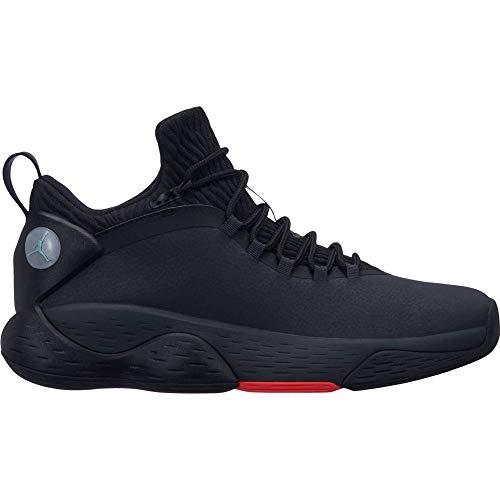Nike Herren Jordan Super Fly MVP Low Basketballschuhe, Mehrfarbig (Iron Grey/Black/Bright Crimson 001), 40 EU