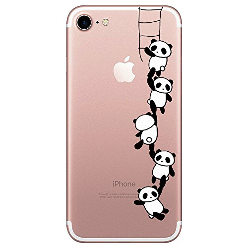 Qissy® iPhone 7 Funda,Carcasa iPhone 7 Case Cover Dibujos Animados Silicona Suave Funda para Apple iPhone 7 4.7' (P)