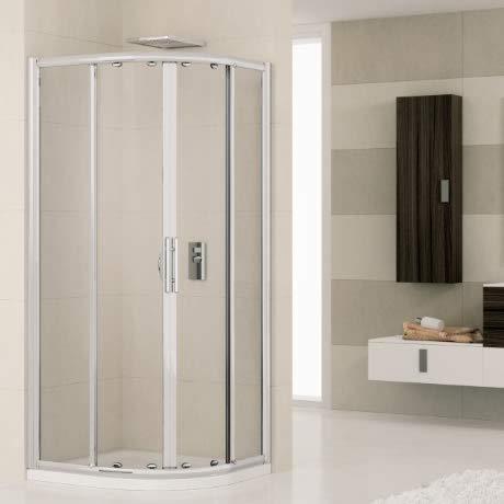 Cabina de ducha Novellini Lunes R80L3D Box semicircular blanca + cristal plumado 80 x 80 cm: Amazon.es: Bricolaje y herramientas
