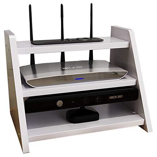 MGCtech Caja De Almacenamiento De Enrutador 3 Niveles Soporte De Decodificador De Rack De Enrutador Soporte De Estante para Accesorios De TV Enrutador WiFi Decodificador De TV Box