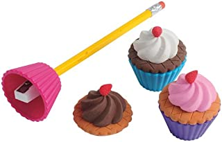 Cupcake Eraser with Sharpener 6-Pc, Sold by 9 Bags