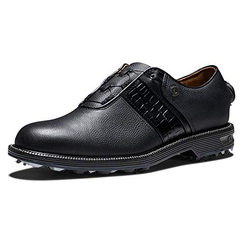 FootJoy Men's Premiere Series-Packard Boa Golf Shoe, Black/Black, 12