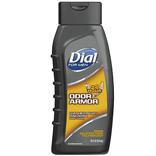 Dial for Men Antibacterial Body Wash, 24 Hour Odor Armor 16 fl oz(pack of 2)