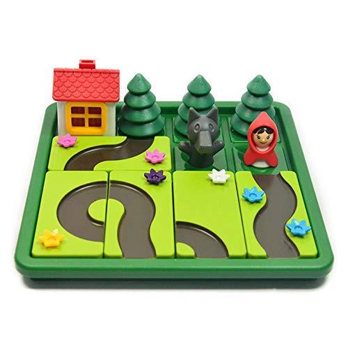 DHFD Spiel Little Red Riding Hood, Smart Games Rotkäppchen, Rotkäppchen Eltern-Kind-Puzzle Frühes Lernspielzeug, Reflexion Spiel Für Eltern-Kind-Puzzle Frühes Lernspielzeug