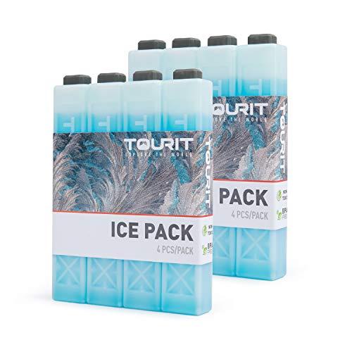 TOURIT Packs de Glace pour glacières Packs de congélation réutilisables de Longue durée pour Sacs/boîtes à Lunch, Sac à Dos Isotherme, Camping, Plage, Pique-Nique, pêche et Plus