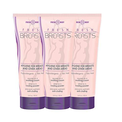 FRESH BREASTS Female Hygiene Antiperspirant 3.4 oz (3 PACK) The Solution for Women!