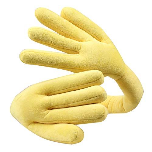 Opblaasbaar zwembad Travel hoofdsteun auto hoofdsteun Office Lunchpauze Pillow Finger Shape nekkussen Verstelbare Travel hoofdsteun Vliegtuigen, Auto ZHQHYQHHX (Color : Yellow)